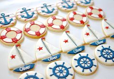 Boat Themed Birthday Cookies
