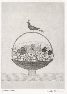 (Japan) by Keiko Minami (1911- 2004). Etching. Japan.