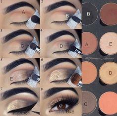 Eyeshadow tutorial – Glitz and Glamour Makeup Eyeshadow tutorial Eyeshadow tutorial Makeup 101, Makeup Inspo, Makeup Brushes, Hair Makeup, Eye Brushes, Makeup Geek, Makeup Hacks, Makeup Tutorials, Makeup Ideas