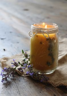 Summer Meets Fall With Pressed Flower Candles
