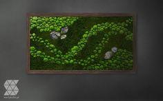 Zielony obraz, mech stabilizowany