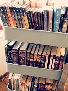 ikea cart for books!