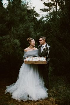our love for this winter wedding inspo shoot is evergreen  Image by Heather Burris Photography