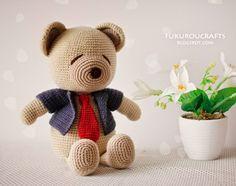 fukuroucrafts: Cute Crochet Pattern Bear Doll, Cute Amigurumi Pat...