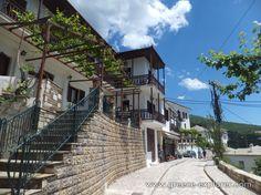 Village Makrinitsa in Mount Pelion Greece, Explore, Mansions, Street, House Styles, Places, Home Decor, Mansion Houses, Homemade Home Decor