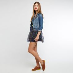 pair a cute denim jacket with your summer dresses!