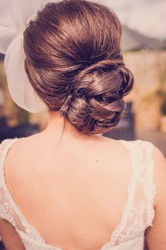 Wedding Hairstyles - Wedding Hairstyles : Illustration Description classic updo wedding hairstyle / www. Elegant Wedding Hair, Wedding Updo, Wedding Hair And Makeup, Bridal Hair, Hair Makeup, Pub Wedding, Perfect Wedding, Elegant Bride, Trendy Wedding