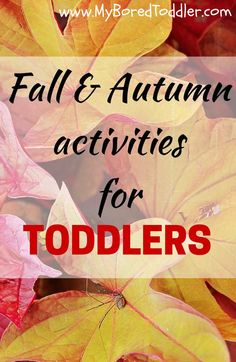 Fall Crafts for Toddlers - easy Fall craft ideas. fall crafts for toddlers, Autumn Crafts for toddlers My Bored Toddler fall crafts for toddlers, Autumn Crafts for toddlers My Bored Toddler Fall Crafts For Toddlers, Easy Fall Crafts, Autumn Activities For Kids, Thanksgiving Crafts, Fall Diy, Toddler Play, Toddler Preschool, Toddler Crafts, Preschool Activities