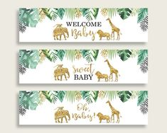 New Ideas Baby Shower Ides Safari Theme Water Bottles Baby Shower Printables, Baby Shower Themes, Baby Boy Shower, Baby Shower Decorations, Shower Ideas, Green Water Bottle, Water Bottle Labels, Water Bottles, Safari Theme
