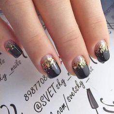 Jeweled nails. Sparkle Nail Designs, Long Nail Designs, Pedicure Designs, Black Nail Designs, Sparkle Nails, Glam Nails, Beautiful Nail Designs, Toe Nails, Glitter Nails