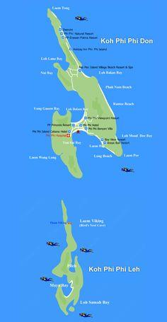 Koh Phi Phi Island Tourist Map