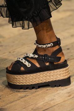 Details about  /FASHION Women Sandals Platform Stiletto Sandals Brown Shoes Woman Big Size 4-20