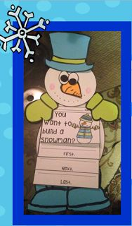 This is the perfect explanatory writing for this time of year! Students will create their own flip-book on how to build a snowman. Prior to their writing, students build their own snowman which then serves as a backdrop to showcase their writing. SUPER CUTE!!
