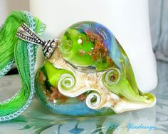 Frogking's heart  Glasherz  lampwork  Anhänger  von ISRGlasdesign, $38,00