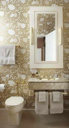 Jessica Lagrange Interiors   Bathrooms   Osborne U0026 Little Asuka Wallpaper,  Gold Metallic Wallpaper, Gold Floral Wallpaper, Gold Bathroom Wal.