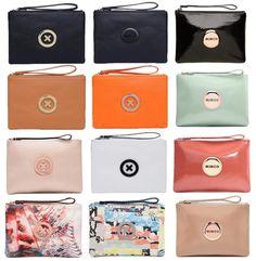 Supernatural Lovely mimco Medium Pouch Women sleek travel purse Clutch wallet signature MIMCO badge charm
