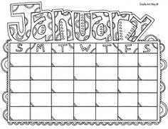 Free Blank Monthly Calendars Editable  TeacherspayteachersCom