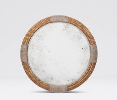 "Mirrors | Made Goods 36"" gold rope & antique mirror, whitewashed rope/normal mirror"