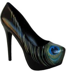 Peacock Feather - Platform Heel