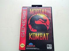 Vintage Mortal Kombat Sega Genesis Game 1992 by WylieOwlVintage, $14.00