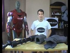 XRobots - Iron Man & War Machine pepakura costume suit foam build, sealing and painting process