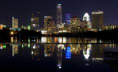 Austin, Texas and Reach Church Best Vacation Destinations, Best Vacations, Vacation Trips, Austin Skyline, New York Skyline, Wonderful Places, Beautiful Places, Austin Homes, Austin Tx