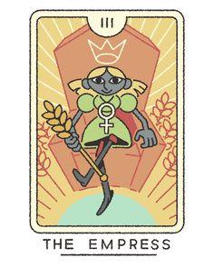 The Empress Tarot (Major & Minor Arcana) Joe Sparrow Judgement Tarot Card, Tarot Major Arcana, Fruit Illustration, Comic Book Style, Simple Cartoon, Medieval, Pretty Art, Tarot Decks, Character Design Inspiration