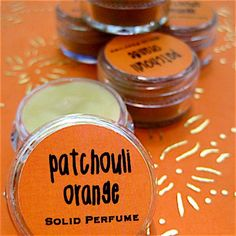 Natural Patchouli Orange Solid Perfume by daisycakessoap on Etsy, $4.00