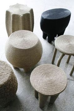 CHRISTIAN ASTUGUEVIEILLE, ropes stools