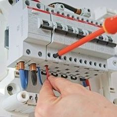 Install a secondary electrical panel Home Electrical Wiring, Electrical Installation, Electrical Engineering, Residential Wiring, Electrical Maintenance, Gold Detector, Breaker Box, Power Strip, Modern Architecture