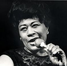 The First Lady of Song, Ella Fitzgerald. (I'm pretty sure I made this face a couple times in wedding photos. Somehow, I got Ella's eyebrows.)