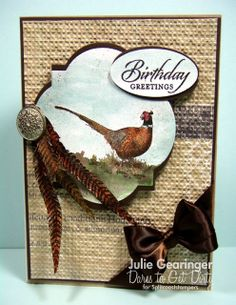 #SU Walk in the Wild, Fine Feathers using Epic Day DSP, and the Window Frames Framelits and Square Lattice EF - Julie explains how she made this gorgeous card on her blog.