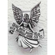 I have this clip on my visor in my car  as a reminder to me that mom is my guardian angel.