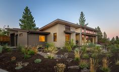 Harbin Residence in Bend, Oregon. An ultra efficient and sustainable home heated with @warmboard. Cheryl Heinrichs Architecture.