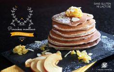 Pancakes à la châtaigne sans gluten ni lait ©reglisse-et-marmelade2014 Lactose Free, Vegan Gluten Free, Dairy Free, Pancakes Sans Gluten, Raw Food Recipes, Healthy Recipes, Healthy Detox, Foods With Gluten, 20 Min