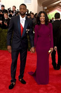 Dwyane Wade and Gabrielle Union at the 2015 Met Gala.