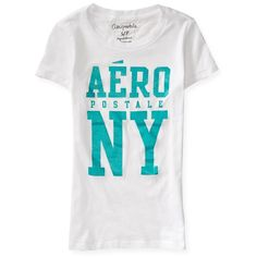 Glitter Aero Graphic T (6.47 CAD) ❤ liked on Polyvore featuring tops, t-shirts, bleach, aeropostale t shirts, slim tee, slim fit t shirts, graphic tops and slim t shirt