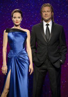 Increíbles nuevas figuras de cera de Brad Pitt y Angelina Jolie