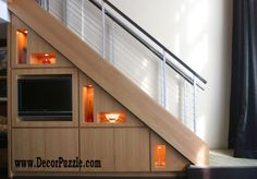 Classy modern interior staircase designs and stair railing ideas