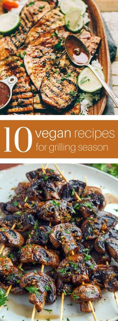 Recipes for Grill Season Vegans, rejoice! These 10 vegan recipes for the grill pack all the smoky flavor you crave—minus the meat. Get the recipes at Vegans, rejoice! These 10 vegan recipes for the grill pack all the smoky flavor you crave—minus the meat. Veggie Recipes, Whole Food Recipes, Cooking Recipes, Healthy Recipes, Vegan Bbq Recipes, Dinner Recipes, Barbecue Recipes, Vegan Recipes For Beginners, Vegan Barbecue