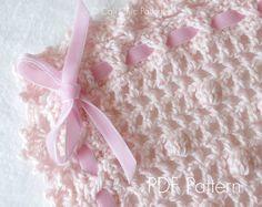 Crochet PATTERN 12  Sugar Baby  Crochet baby Blanket PATTERN