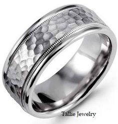 mens 10k white gold wedding band ring 8mm wide sizes 4 12 free engraving new