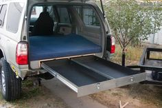 I would make the drawers higher so the mattress wouldn't have lumps from the wheel wells. Suv Camper, Truck Bed Camper, Truck Camping, Camper Van, Pickup Camping, Land Cruiser, 3rd Gen 4runner, Truck Bed Storage, Jimny Suzuki