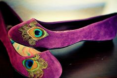 Purple Peacock Flats Size 75 by LaPlumeEthere on Etsy from LaPlumeEthere on Etsy. Saved to shoes :). Peacock Shoes, Purple Peacock, Peacock Feathers, Peacock Art, Peacock Design, Prom Shoes, Wedding Shoes, Ballerinas, Unique Shoes