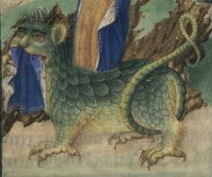 St. Margaret's Dragon, Bibliothèque nationale de France, Département des manuscrits, NAL 3191, fol. 153v.