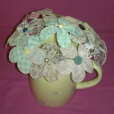 Lace wire flowers :) cute!