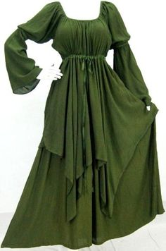 """Peasant layer Renaissance Lotustraders~ Clothing  * Rayon Crinkle Comb  54"""" length, 40"""" to 62"""" bust when stretched, 20"""" armhole, 26"""" sleeve, 78"""" hips"""