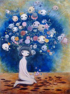 WORKS | Kaikai Kiki Gallery Pretty Art, Cute Art, Aya Takano, Funky Art, You Draw, Weird Art, Japanese Artists, Psychedelic Art, Surreal Art