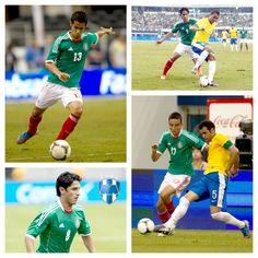 Eduardo Zavala, Severo Meza, Aldo de Nigris y Ángel Reyna fueron claves en el triunfo ante Brasil. Junio 3, 2012
