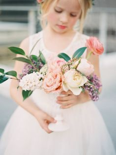 Pretty flowers: http://www.stylemepretty.com/2015/04/16/will-you-be-my-flower-girl-shoot/ | Photography: Nicole Berrett - http://www.berrettphotography.com/